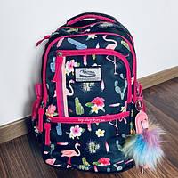 Рюкзак городский школьный для подростков Favor портфель Фламинго для девочки