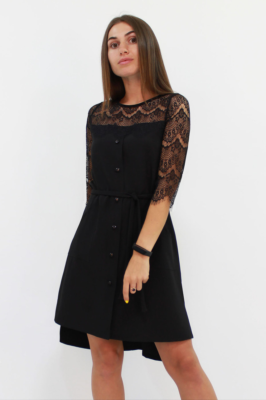 Вишукане жіноче плаття Adelin, чорний