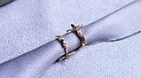 Серьги - крестики фирмы Xuping с мед. золота ( color 64 ), фото 3