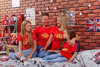 Футболки в стиле Family look для мамы, папы и ребенка - King \ Queen \ Prince \ Princess