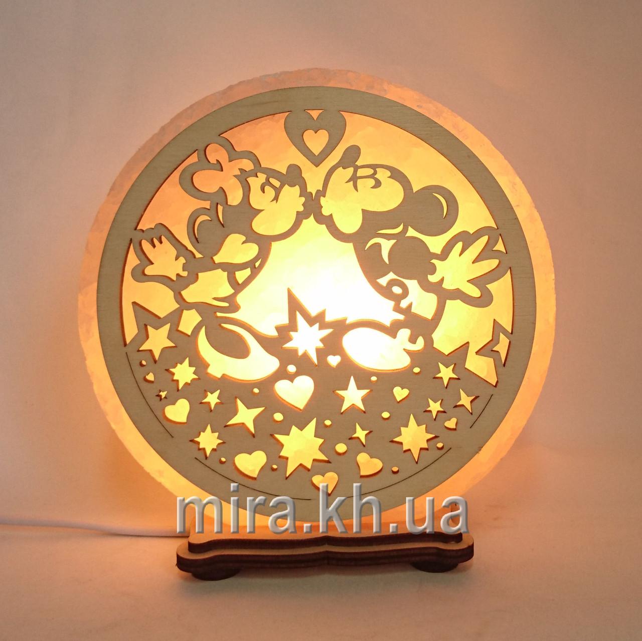 Соляной светильник круглый Мики Маус