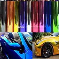 Пленка Самоклейка Хром Зеркальная Глянцевая Отражающая Синий для авто 152х30 см