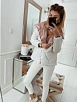 Стильная женская куртка из плащевки на синтепоне, фото 2