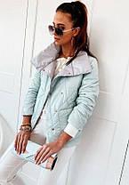Стильная женская куртка из плащевки на синтепоне, фото 3