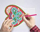 Набор для творчества Crystal art светодиодный светильник с алмазной мозаикой Сердце (MI_DP12), фото 4