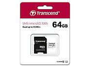Карта памяти Transcend 64GB microSDXC C10 UHS-I R95/W40MB/s + SD адаптер