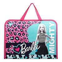 Папка-портфель YES на молнии с тканевыми ручками Barbie