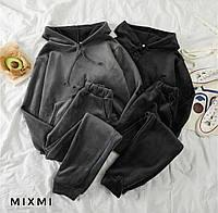 Стильный велюровый костюм, женский прогулочный костюм, классный велюровый костюм, фото 1