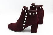 Бордові черевики Battine B442, фото 3