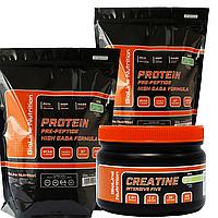 СуперКомплект для Набора Массы: 4 кг Оригинал Протеина Германия 80% белка + Вкусовой Креатин в Подарок!