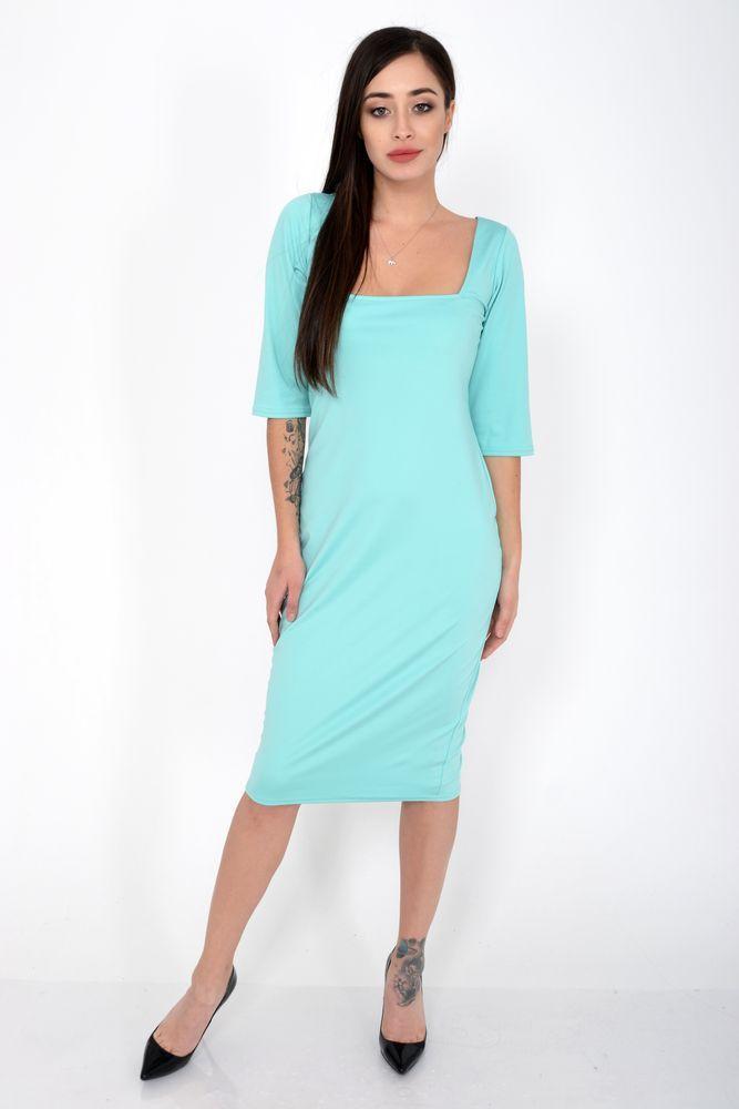 Платье женское 120R0402 цвет Бирюзовый