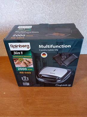 Мультипекарь Rainberg RB-5409, 3 в 1, вафельниця, горішниця, гриль, фото 2