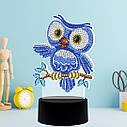 Набор для творчества Crystal art светодиодный светильник с алмазной мозаикой Совенок (MI_DP14), фото 2