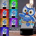 Набор для творчества Crystal art светодиодный светильник с алмазной мозаикой Совенок (MI_DP14), фото 6