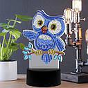 Набор для творчества Crystal art светодиодный светильник с алмазной мозаикой Совенок (MI_DP14), фото 3