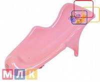 Maltex Подставка в ванночку Кубусь, розовый