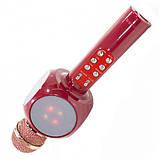 Караоке-микрофон портативный Bluetooth WSTER WS-1816, красный, фото 5