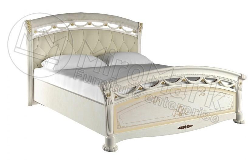 """Ліжко Роселла Люкс з м'яким узголів'ям (2 варіанти комплектації) 160 від """"Миро-Марк"""" (Радика Беж)"""
