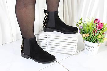 Стильные ботинки челси на низком каблуке B515