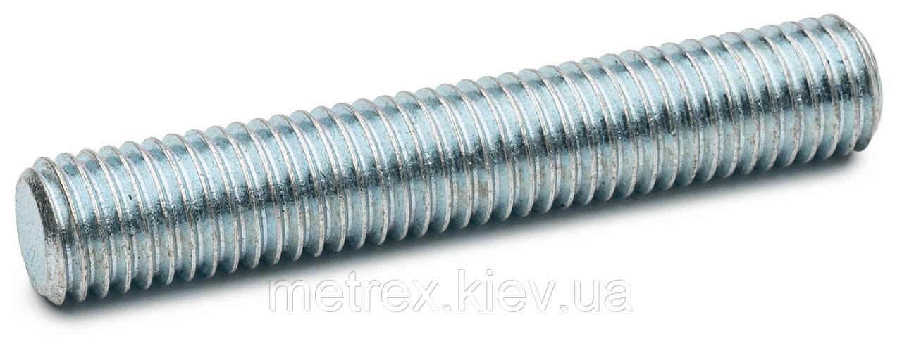 Шпилька резьбовая М6х1000 DIN 975 класс 4.8 угол резьбы 60º оцинкованная, 50 шт.