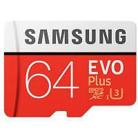 Карта памяти Samsung 64GB microSD class 10 EVO PLUS UHS-I (MB-MC64GA/RU)