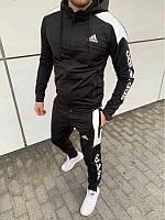Мужской ченый весенний спортивный костюм adidas Турция