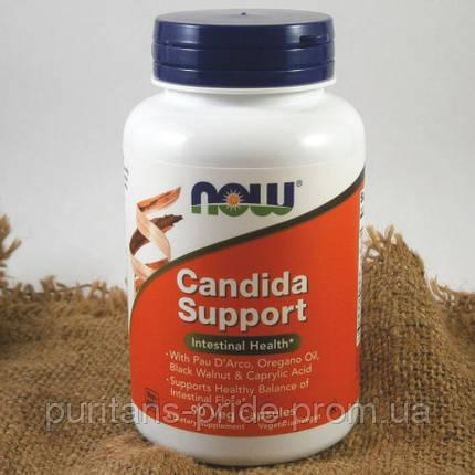 Противокандидное засіб, Now foods candida support 90 capsules veg, фото 2