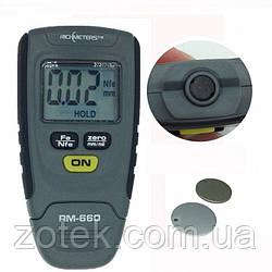 Товщиномір Richmeters RM660 Fe/NFe тестер фарби до 1250 мкм вимірювач лакофарбового покриття