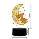 Набір для творчості Crystal art світлодіодний світильник з алмазною мозаїкою Ведмедик на місяці (MI_DP16), фото 4
