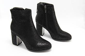 Класичні чорні черевики на підборах маленького розміру Battine B0465