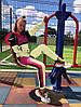 Женский спортивный костюм из плащевки со светоотражающими вставками размеры 42-52, фото 2