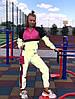 Женский спортивный костюм из плащевки со светоотражающими вставками размеры 42-52, фото 3
