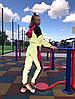 Женский спортивный костюм из плащевки со светоотражающими вставками размеры 42-52, фото 5