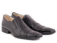 Оригинальная модель мужских туфлей в лаковой коже