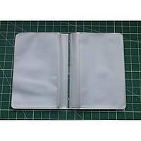 Вкладыш для визиток пластиковые карманы ПВХ 20 страниц