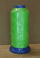 Нитки светящиеся в темноте 3000 ярдов (2700метров) зеленый ( люминисцентные) для вышивки и вязания