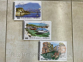 Альбом для акварели / скетчбук Watercolor Paper Sketchblock A5 на спирали,  200 г/м2, 20 листов, AK 5620