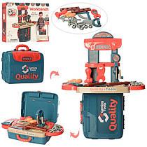 Дитячий ігровий Набір інструментів у валізі, дитяча майстерня - стіл верстак з інструментами, 008-972