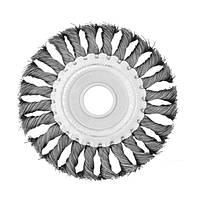 Щетка для УШМ Intertool кольцевая 125*22.23мм витая проволока BT-7125