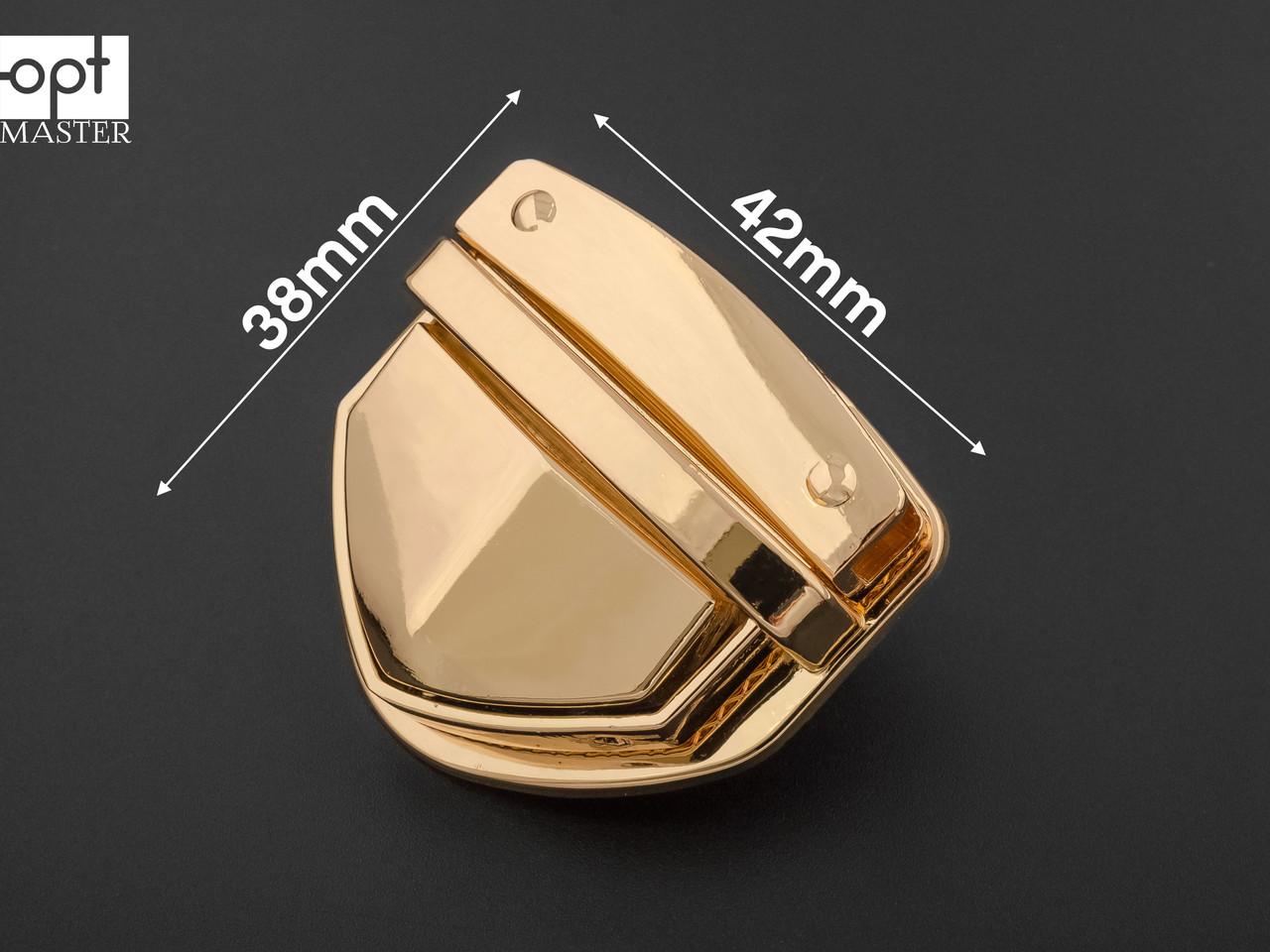 Замок сумочный 65-007 золото, р. 42*38мм