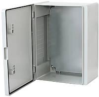 Щит Бокс монтажный ERKA 024 (400x500x210) c монтажн. панелью, опаловые дверцы IP65