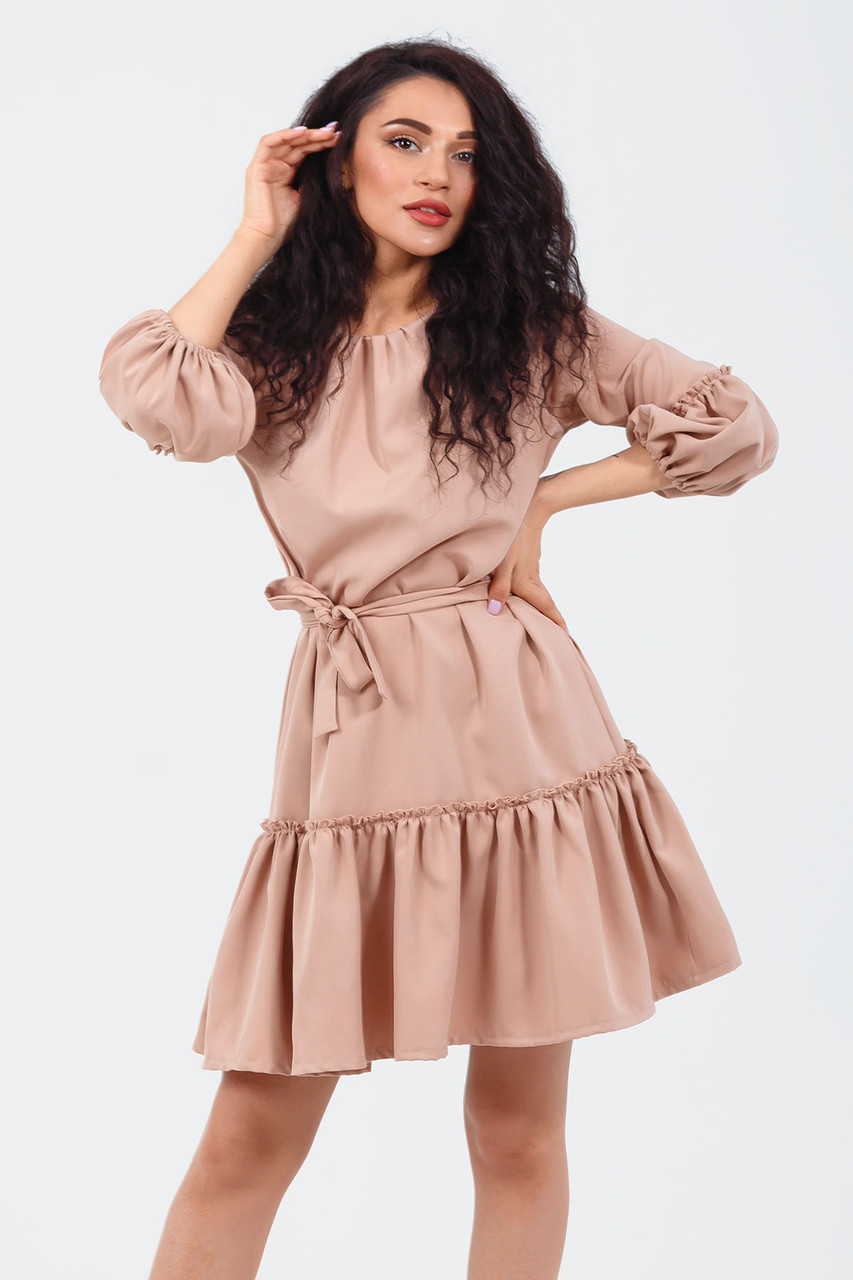 Изысканное женское платье Raily, бежевый