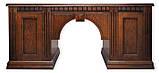 Стол руководителя из массива Оскар с кожаной вставкой Письменный стол в кабинет руководителя дуб, фото 4