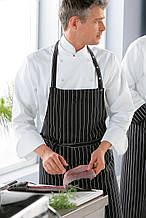 Фартук для повара TEXSTYLE полосатый черный T-140-F (strip) TEXSTYLE