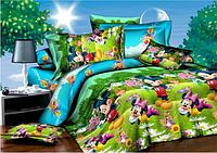 """Детский полуторный комплект постельного белья """"Микки Маус и команда"""""""