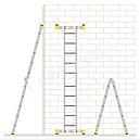 Лестница алюминиевая двухсекционная универсальная 2 х 11 ступеней, фото 5