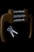 Балконный гарнитур с ключом Astex ANTEY BHS 2/3 цвет коричневый RAL 8019
