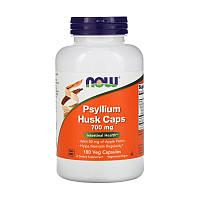 Псиллиум Psyllium Huck Caps, Now Foods, шелуха семян подорожника, 700 мг, 180 капсул