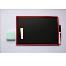 Магнітна дошка 207*308 К + крейда, маркер, мочалка (1)