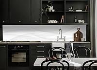 Виниловая наклейка кухонный фартук-скинали 65х250 см ReD Белый шелк линии (самоклейка на кухню)